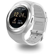 Y1Smartwatch pantalla táctil apoyo Micro tarjeta SIM con Bluetooth 3.0Cámara Monitor de sueño al aire libre Fitness para iOS Android