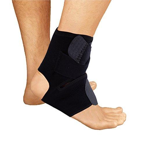 Landsell Knöchelbandage, zuverlässig Stabilisator, mit Seite Stützen und Kreuz zusätzlichen Befestigung Gürtel Schutz für Schmerzen Recovery & Enhanced Durchblutung in Fußball, Basketball, Volleyball, Laufen Knöchelbandage Hosenträger
