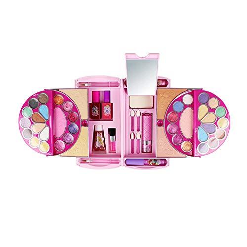 Disney Für Jugendliche Prinzessin Kostüm - fllyingu Disney Kinder Make-up Set,53 Stücke Kosmetik Kit für Disney Pandora Zauberspiegel Serie Make-Up Spielzeug Ornamente Sicher und Giftfrei für Mädchen Üben Make-up