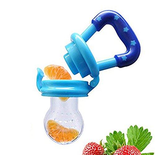 Hosaire Baby Schnuller Lebensmittel Silikon Schnuller Baby Beruhigungssauger,Babys und Kleinkinder durch Fruchtsauger mit Gemüse und Obst fördern