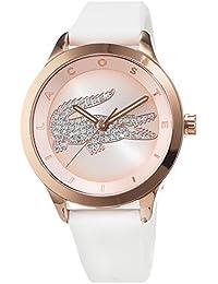 Lacoste Damen-Armbanduhr Analog Quarz Silikon 2000915