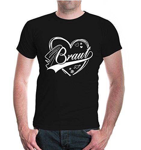 buXsbaum® T-Shirt Braut Black-White