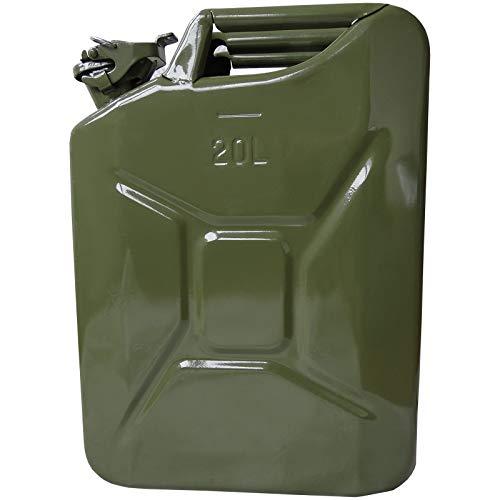 1 Benzinkanister Kraftstoffkanister Metall 20 Liter Olivgrün