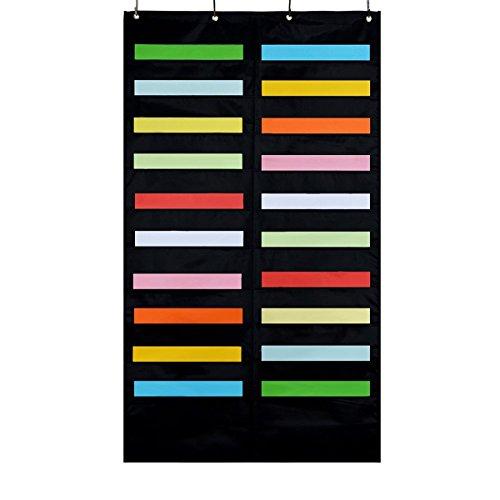 20Slots Aufbewahrungsfach Diagramm, iwishu, zum Aufhängen Datei Ordner Halter Cascading Stoff Organizer für Büro und Schule Raum Schwarz
