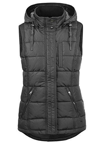 DESIRES Naomi Weste Damen Stepp-Weste Übergangsweste mit Kapuze aus hochwertiger Materialqualität, Größe:XL, Farbe:Dark Grey (2890)