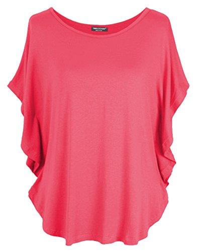 Emma & Giovanni Shirt/Oberteile Kurzarm - Damen (Orange, S/M)