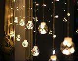 MAGIKE Weihnachtsgirlande, helle Lampe Fenster 2.5Meter 108Leuchtmittel Beleuchtung Zauberhaftes Etoile LED Sternform Dekoration für Weihnachten Party Hochzeit Fenster, weiß