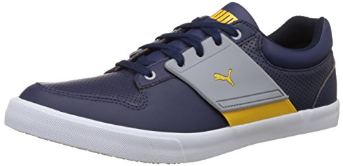 Puma Men's El Ace Lo Niagara and New Navy Leather Sneakers - 7 UK/India (40.5 EU)