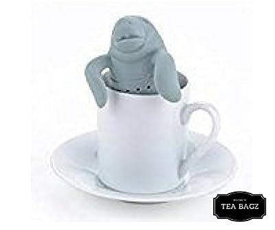 TEA-BAGZ/ Lot de 2 Infuseurs de Thé en forme de Lamantin /En forme d'Éléphant des Mers / Idéal pour une infusion Bio/Tisane/Thé vert,/ Thé noir/ Accessoires home et cuisine/ Diffuseur à Thé Original/ Diffuseur à Thé de Haute Qualité / Diffuseur de thé 100