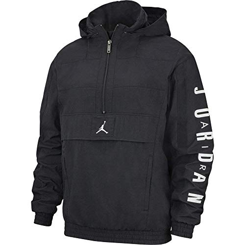 Nike M J Wings Windwear Jacke, Herren M Schwarz/Weiß (Black/Black/Black/White)