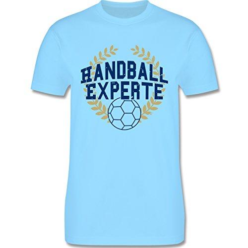 Handball - Handallexperte - Herren Premium T-Shirt Hellblau