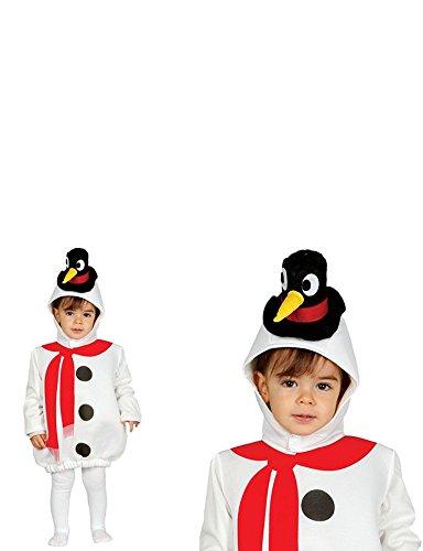 Süßes Schneemann Kostüm für Baby mit Hut - -