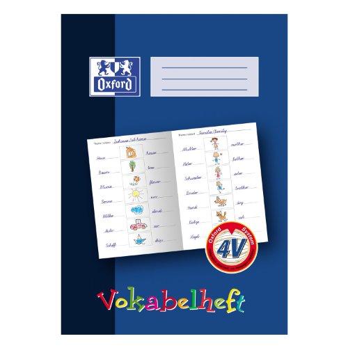 OXFORD 100057955 Vokabelheft Schule 10er Pack A4 4V Grundschule 4. Klasse 16 Blatt blau