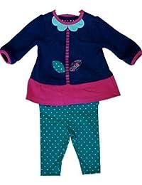 9bd605ef72d59 Ex Nutmeg Baby Girls Dress & Leggings Set Flower Motif 0 3 6 9 12 18