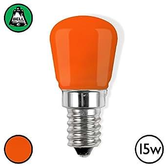 Bell 15w SES Pygmy Light Bulb - Orange / Amber (Pack of 3)