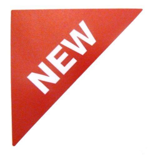 Etiquetas Para Viviendas En Venta , texto: NUEVO , Rojo , Pequeño Triángulo , Inmuebles & Alquileres Agente pegatinas autoadhesivas