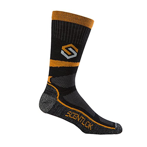 fadd55cb8b143 Scent-Lok Men's Ultralight Merino Sub-Crew Socks - Black -