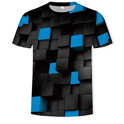 YURACEER Herren Sommer Short-Sleeve Männer T-Shirts 3D Gedruckt Tier AFFE t-Shirt Kurzarm Lustige Design Casual Tops Tees Männliche x1 5XL -