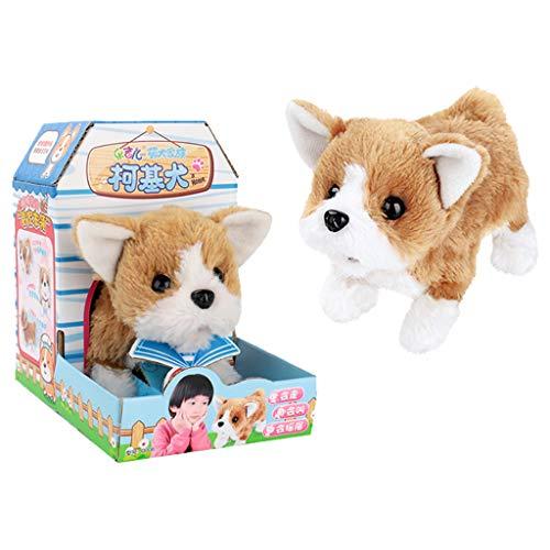 Gaddrt Netter Gehender Haustier Bellen Hund Elektronisches Spielzeug-Weichen Geschenk-Plüsch-Hund Für Kinder (F)