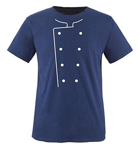 Comedy Shirts - Koch KOSTÜM - Herren T-Shirt - Navy/Weiss Gr. XL