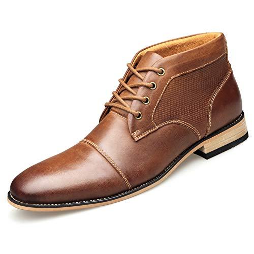 Keds Chukka (Shoe house Mens Winter Chukka Ankle Dress Boots Leder Lace up Oxford Classic,A,US8.5=EU41.5)