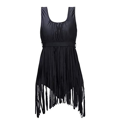 e Quast Hohe Taille Push-up-BH Monokini Badeanzug Badebekleidung XL-5XL ()