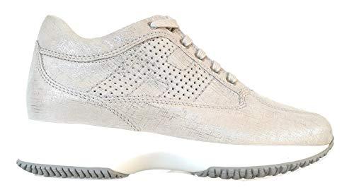 Hogan Scarpe Sneaker Donna Interactive H bucata HXW00N00E30KAYB002 Argento (37 EU - 4 UK)