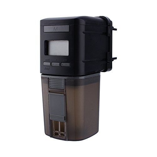 Estink Alimentatore Automatico di Pesce, Dosatore Mangime Automatico con Display LCD e Impostazione del Tempo di Alimentazione Automatica del Timer per Acquario Serbatoio per Pesci e Tartarughe