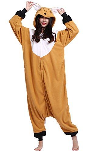 Erwachsene Unisex Cospaly Fuchs Geeignet für Hohe 140-187CM (Fuchs Kostüm Erwachsene)