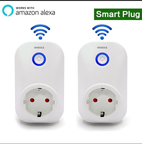 Belkin Dual-link Adapter (2 pcs Superior Quality Mini Wifi-Enabled Smart Outlet By OOSSXX - No-Hub Wireless Plug - Compatible With Lights, Home Appliances - Remote Control With Smartphone/Tablet - Works W/ Amazon Alexa)