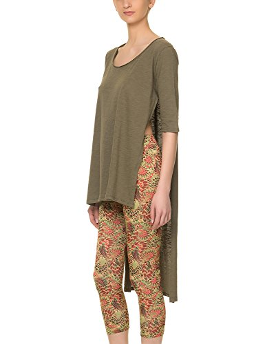 Tag Modest Clothing Women's Women's Adda Khaki Top 100% Cotton Green