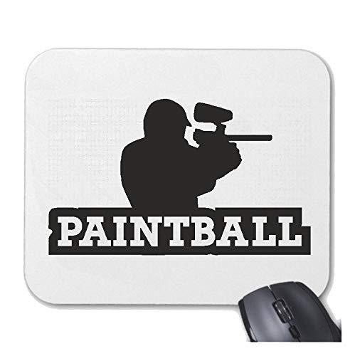 Helene Mousepad (Mauspad) Paintball - Arena - Wettkampf - Paintball AUSRÜSTUNG - Paintball Helm für ihren Laptop, Notebook oder Internet PC (mit Windows Linux usw.) in Weiß