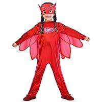 Questo simpatico costume Owlette è un prodotto ufficiale delle maschere PJ e include una tuta rossa una maschera e ali in tessuto.