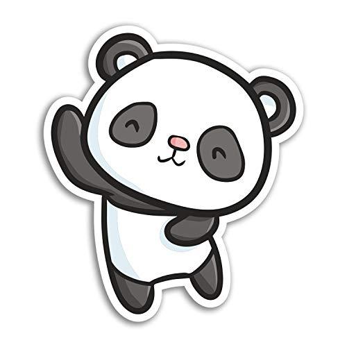 2 x 10cm Netter Panda-Bär Vinyl Aufkleber - China Aufkleber Laptop Gepäck # 17973 (10 cm groß) -