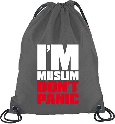 Shirtstreet24, Rosso Musulmano, Religione Musulmano Islam Borsa Zaino Sport Borsa Grigio Scuro