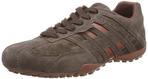 Geox Herren Uomo Snake K Sneaker, Braun (COFFEE/CINNAMONC6M5H), 46 EU
