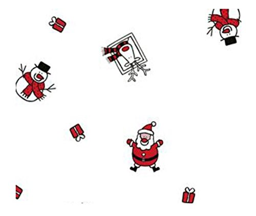 Father Christmas Cellophane Wrap - 5m x 80cm