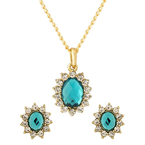 Voylla Traditional Alloy with Gold Plating Plated Faux Stone Pendant Sets for Women