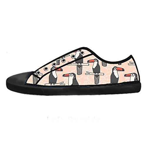 Dalliy Toucan Bird Cartoon Men's Canvas Shoes Lace-up High-top Footwear Sneakers Chaussures de toile Baskets D