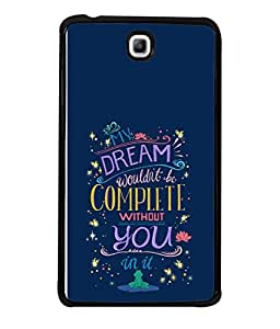 Printvisa Designer Back Case Cover for Samsung Galaxy Tab 3 (7.0 Inches) P3200 T210 T211 T215 LTE (Romantic Message Dreams Stars Flowers)