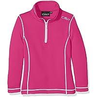CMP Dolcevita pile Maglietta funzionale, Bambina, Fleece Rolli Funktionsshirt, rosa caldo, 116