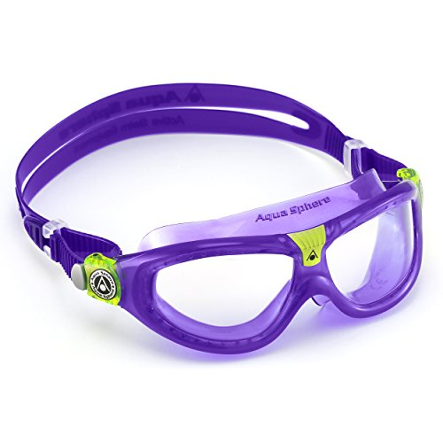 Aqua Sphere SEAL KID 2 Schwimmbrille für Kinder, Maske, Violet (Clear Lens), Junior