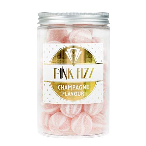 co-Glas mit rosa Fizz Champagner-Bonbons, ideales Geschenk, klassische britische Süßwaren-Favoriten. 280g Nettogewicht ()