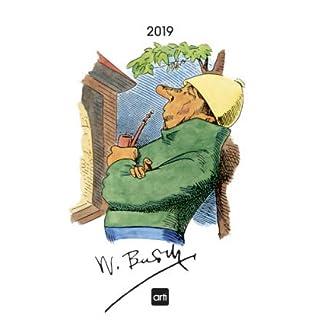 Wilhelm Busch - Kalender 2019 - arti-Verlag - Wandkalender mit Zeichnungen und Texten - Kunstkalender - 24 cm x 33 cm