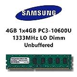 Samsung 4GB (1 x 4GB) DDR3 1333MHz (PC3 10600U) LO Dimm Computer PC Desktop Arbeitsspeicher RAM Memory