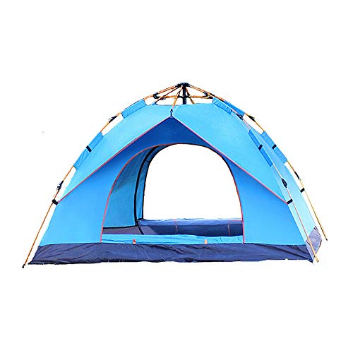 DQM Qualitäts-Familien-Campingzelt, im Freien faltendes automatisches 3-4 Personen-Familien-Strand-Zelt, Windschutz-automatisches Pop-up-Anti-UV-Schutz-Rucksack-Zelt,Blue