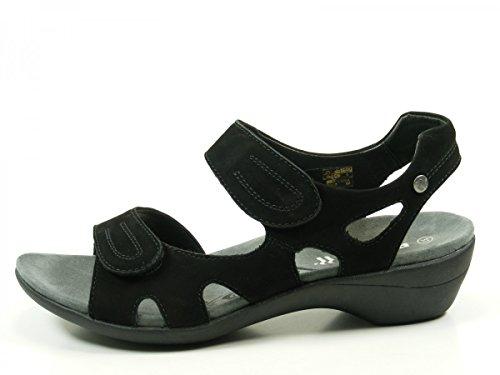 Romika 30307-10 Palma 07 Damen Schuhe Pantoletten Sandalen Schwarz