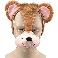 Maschera Occhi Travestimento Scimmia con cerchietto con Suono