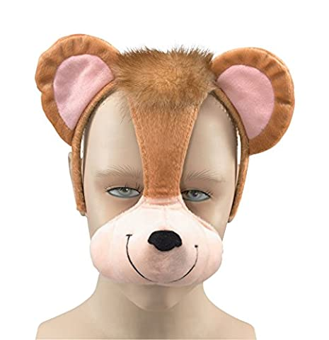 Monkey Mask With Ears And Sound Fancy Dress