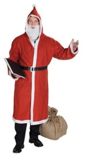 Rubies Anzug Santa Kostüm - Rubies 1 4224 - Weihnachtsmantel 3 teilig Große: STD